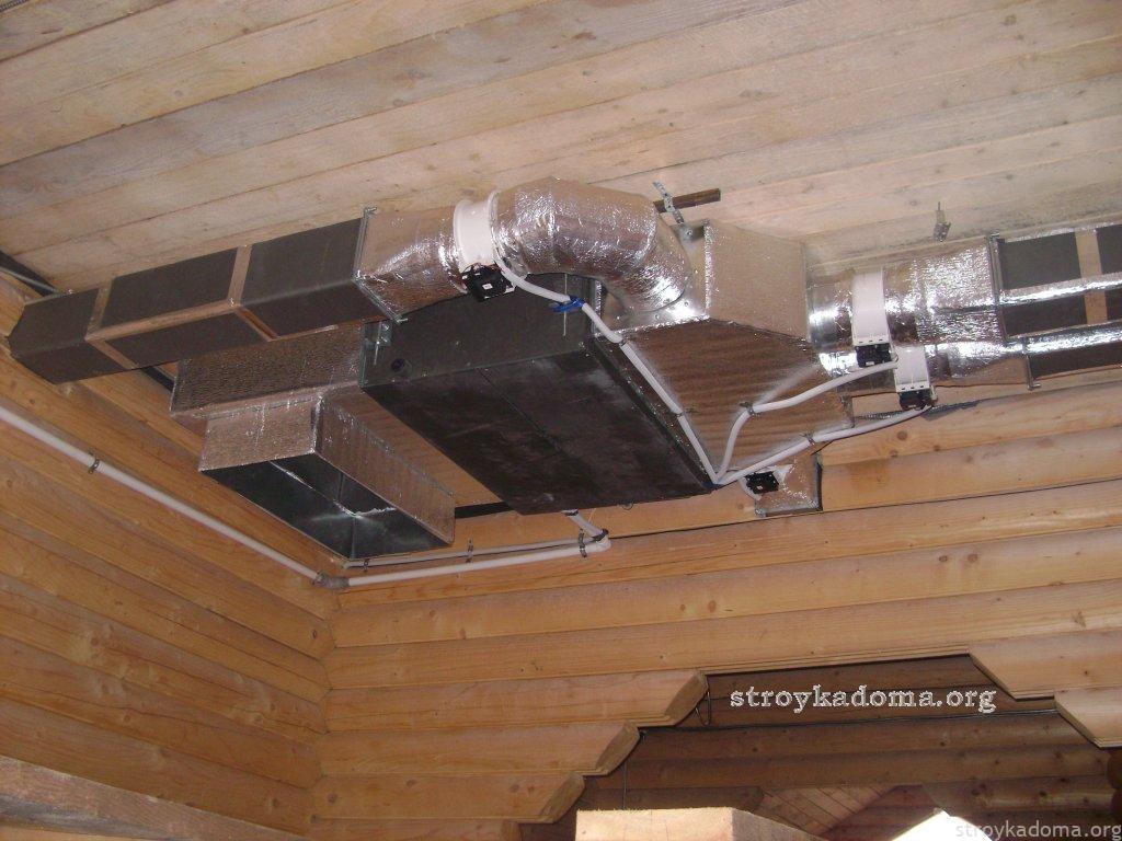 схема монтажа труб для вентиляции
