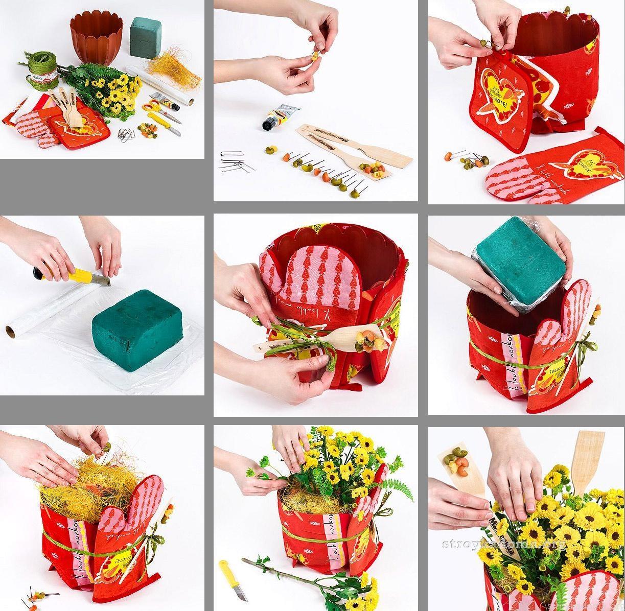 фото инструкция по созданию кашпо для цветов