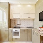 Вариант дизайна маленькой кухни