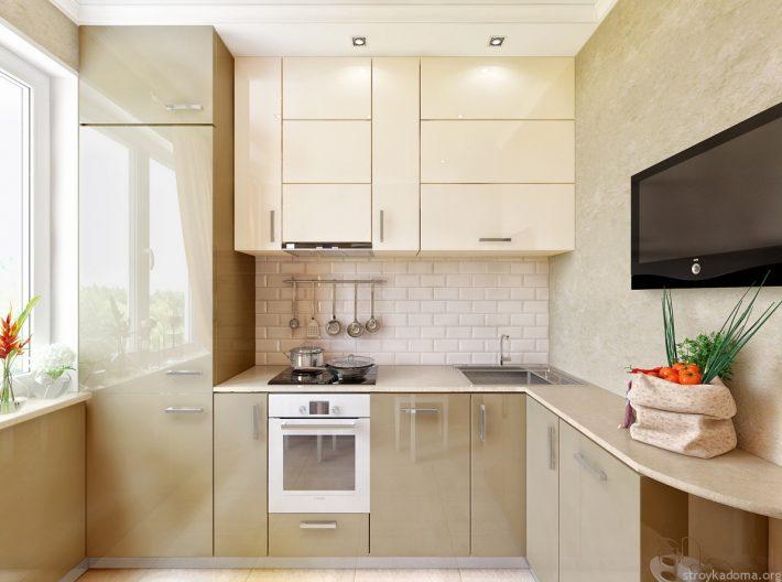 Дизайн кухни 6 кв.м угловая хрущевка