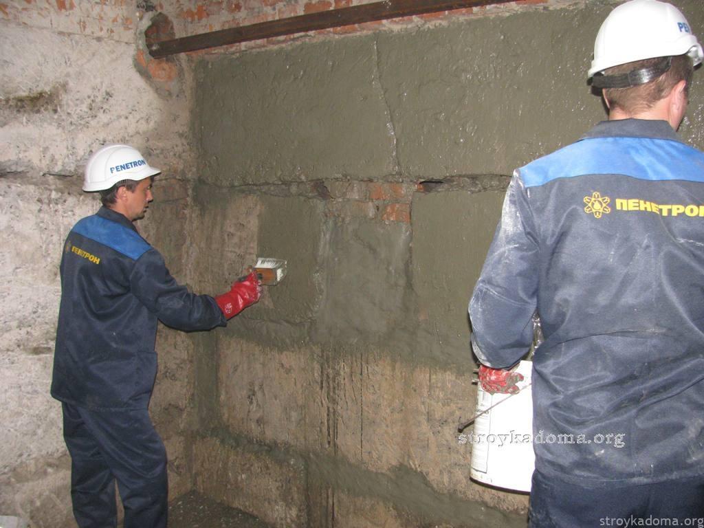 Нанесение гидроизоляции на стены