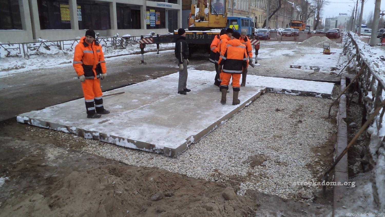 Демонтаж плит дорожных технология поднимаем плиты перекрытия