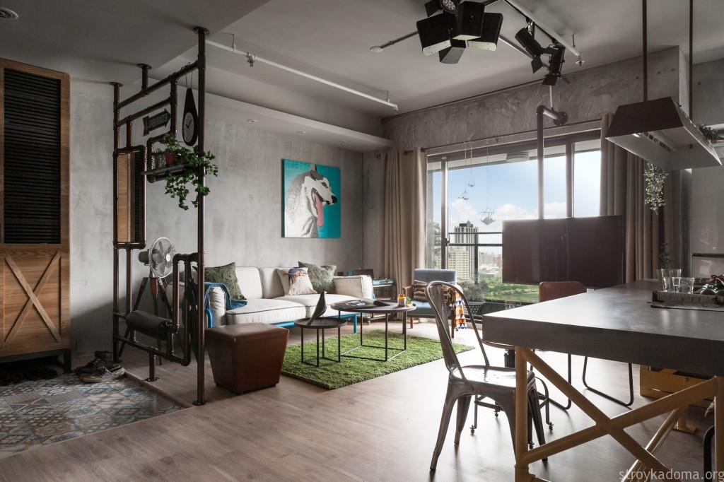 Декоративная перегородка для маленькой квартиры однокомнатной
