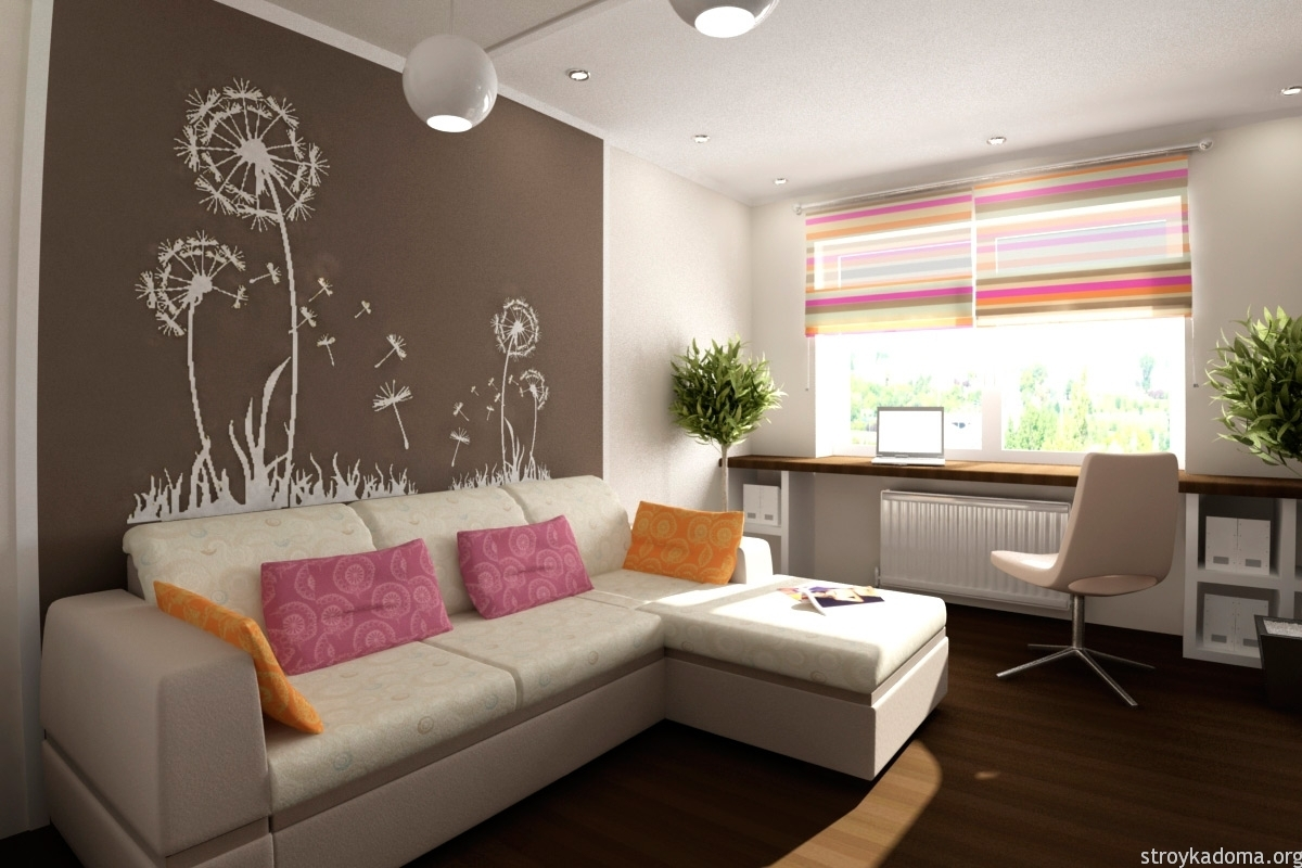 простой дизайн однокомнатной квартиры фото