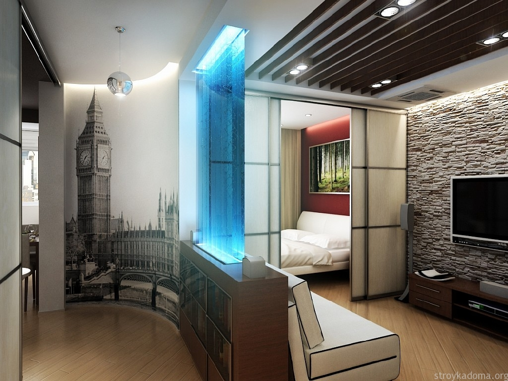 Дизайн однокомнатной квартиры 40 кв. м.