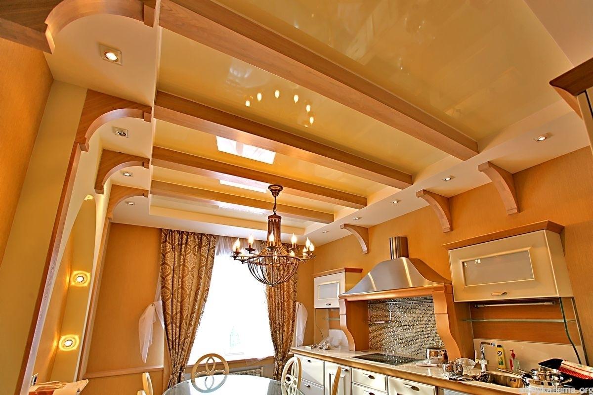Как сделать потолок на кухне