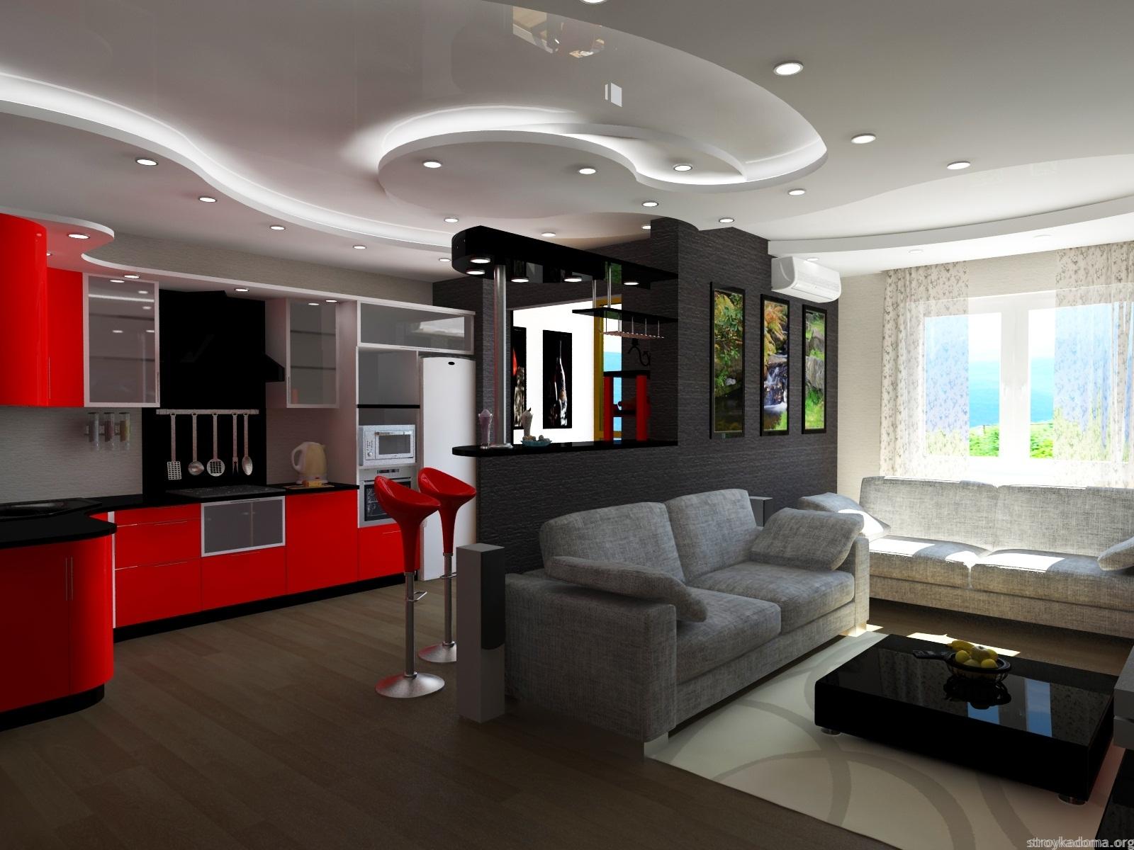 Кухня студия в квартире фото