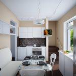 дизайн-небольшой-кухни-в-светлых-тонах