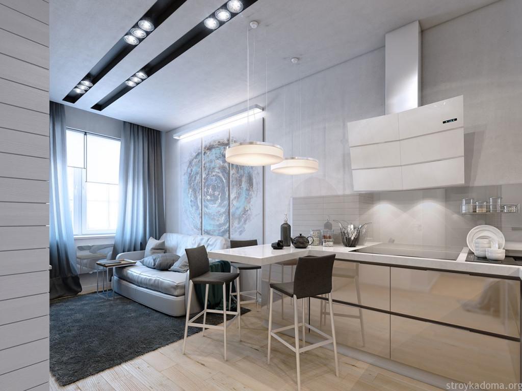 дизайн однокомнатной квартиры студии 3