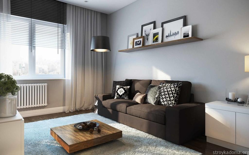 дизайн однокомнатной квартиры студии 5