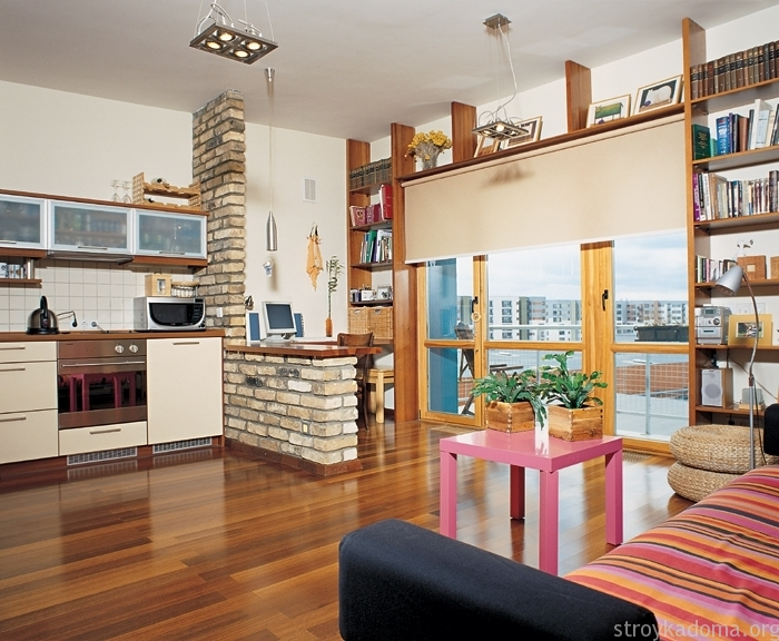 дизайн однокомнатной квартиры студии 6