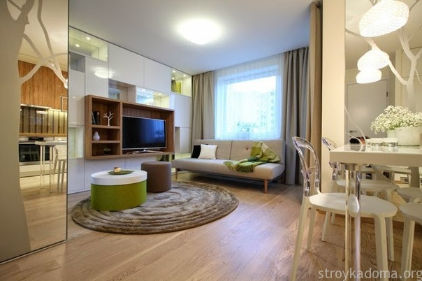 дизайн однокомнатной квартиры студии 7