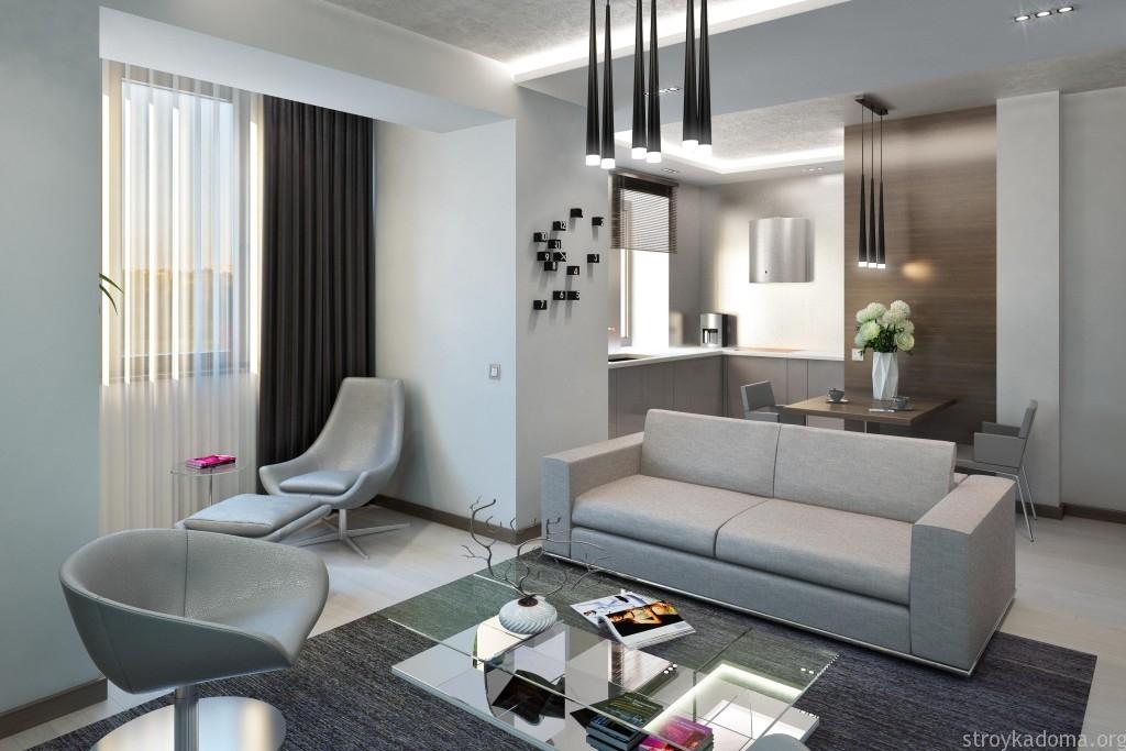 интерьер маленькой квартиры 2016