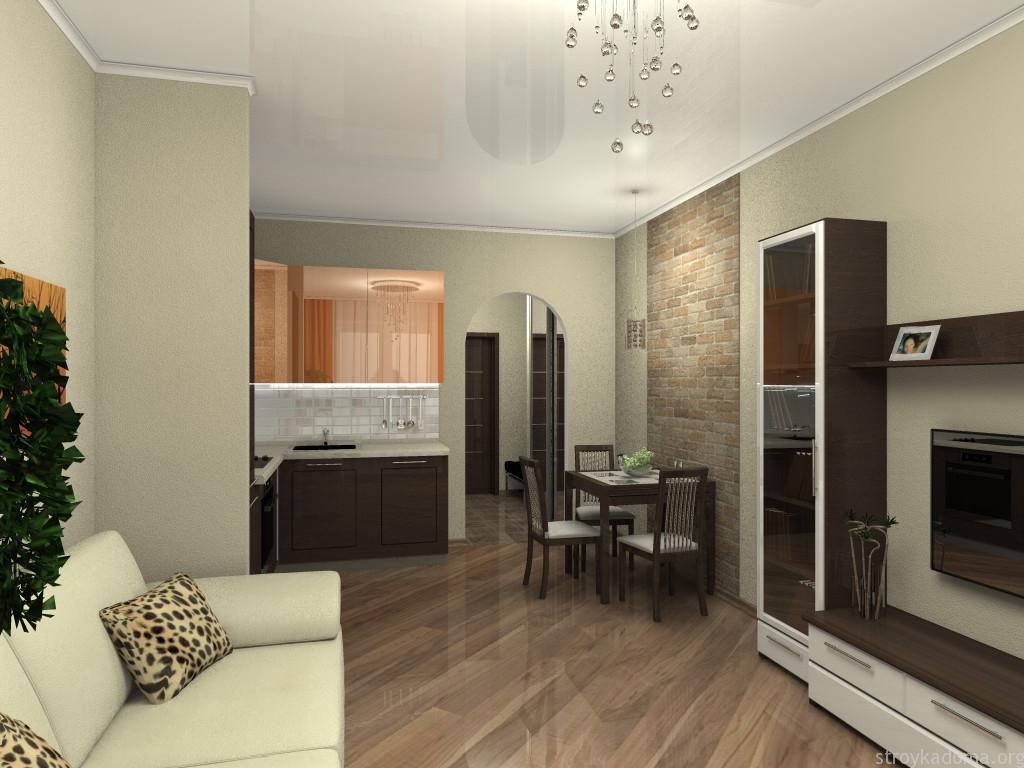 Интерьер двухкомнатной квартиры студии 70 кв.м фото