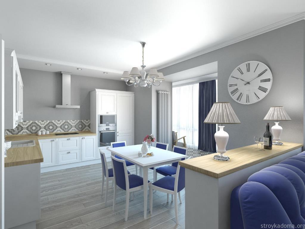 кухня в квартире студии 30 кв.м.