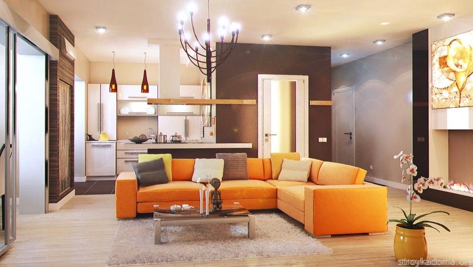 маленькая квартира с современным интерьером