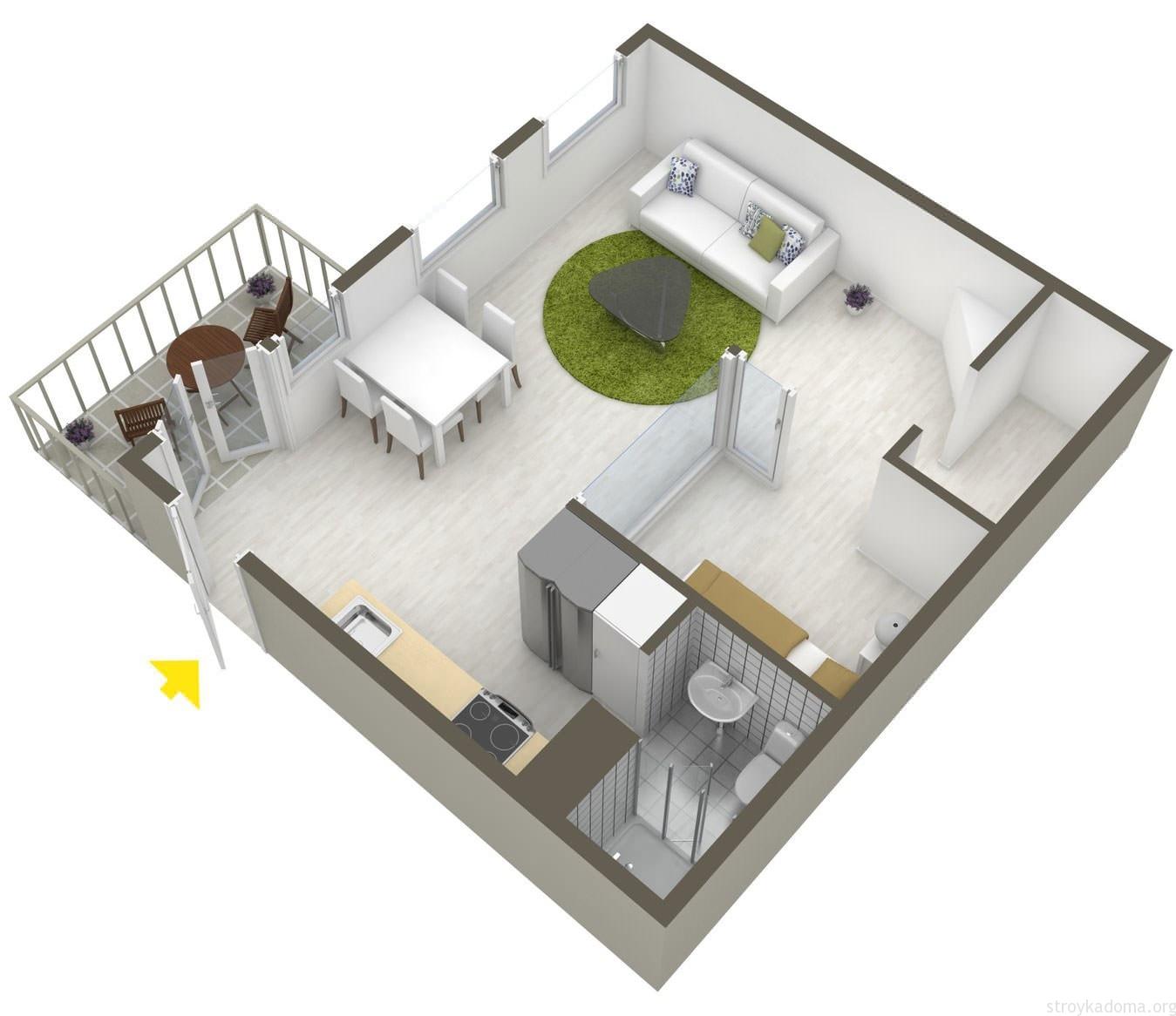Дизайн квартиры студии 30 кв м 50 лучших фото идей по