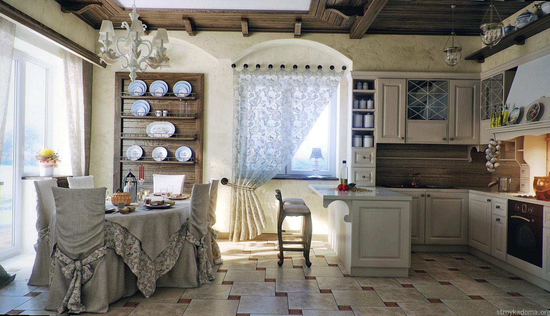 Идеальные шторы для большой кухни