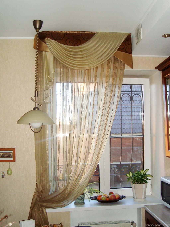 Классический стиль штор в кухню