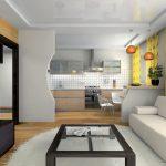Шторы в кухню-гостиную 6