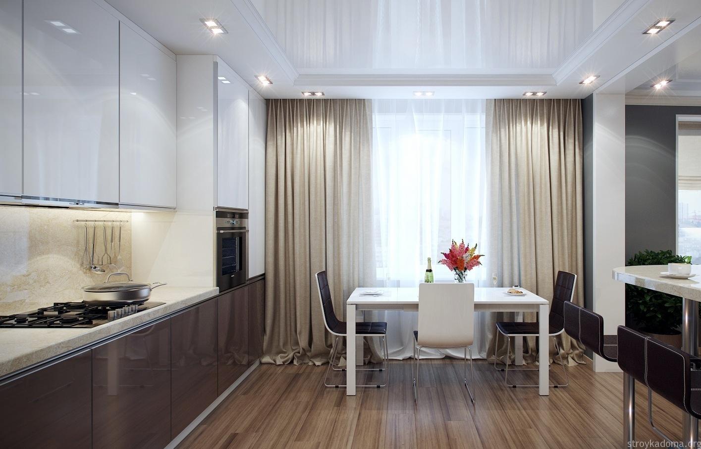 Шторы для кухни в стиле минимализм