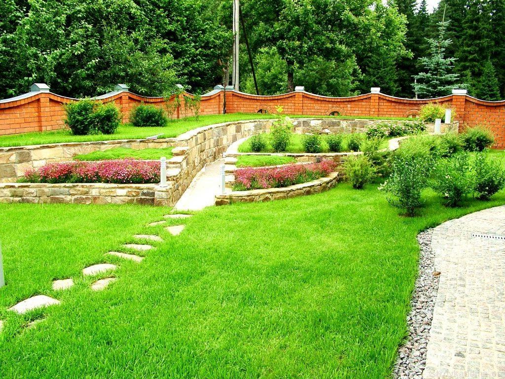 Как оформить газон 4