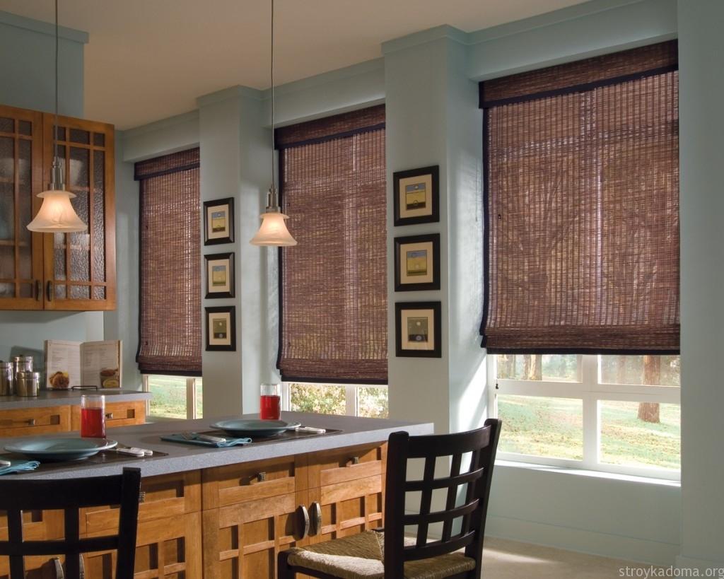 Модные шторы для кухни 2