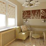 Современные шторы для кухни - 8