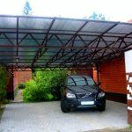 навесы для автомобилей из поликарбоната фото - 2