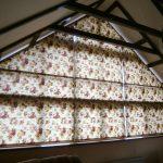 Римские шторы на треугольном окне