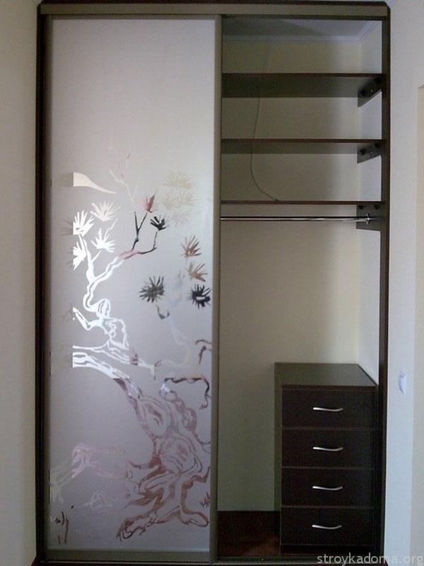 Встроенный шкаф-купе без задней и боковых стен