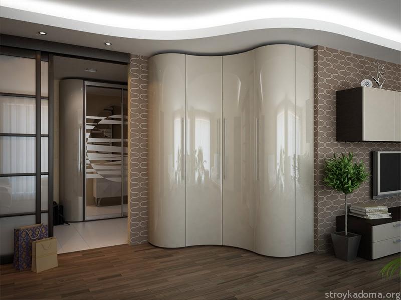 Встроенный шкаф-купе сложной формы