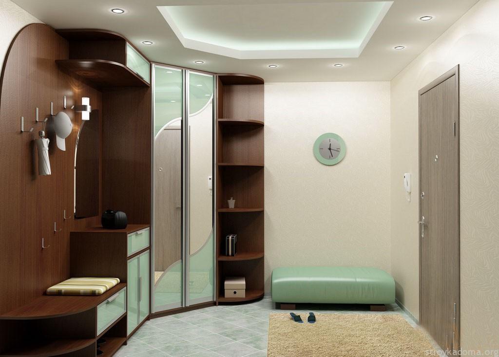 Угловая модель шкафа в коридоре