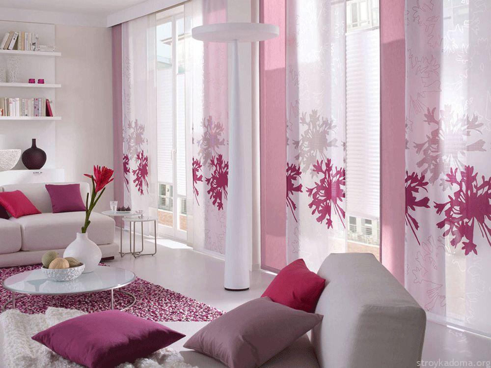 Японские шторы - что это такое и как их можно использовать в интерьере квартиры - фото и описание