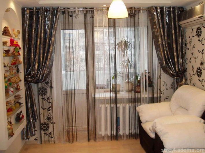 Шторы-нити - украшение квартиры
