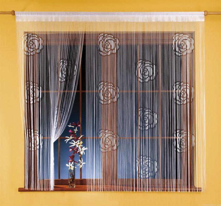Дизайн штор нитей