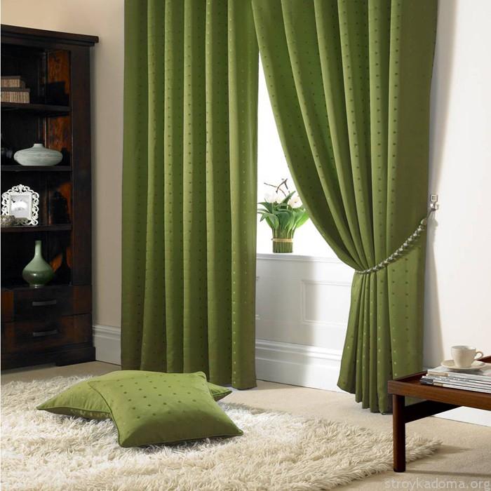 Стильная гостиная в зеленых тонах