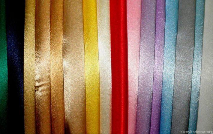 Блестящий креп-сатин разных цветов