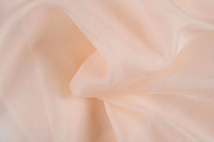 Шелковая органза персикового цвета