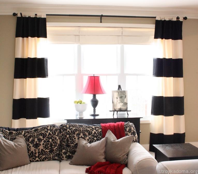 Красивые шторы черно белые