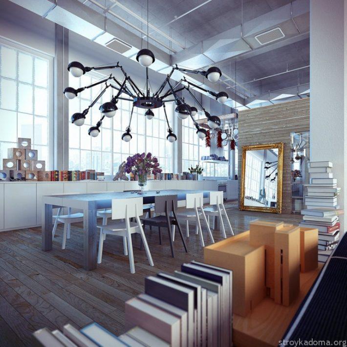 Стол из стекла в стиле Лофт