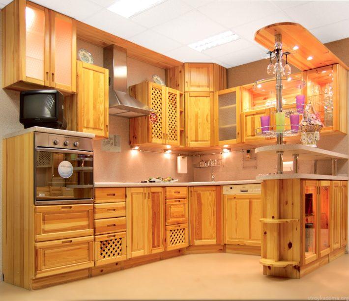 Фасады для кухни из сосны своими руками 64