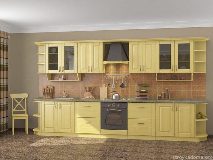 Красивая кухня из сосны