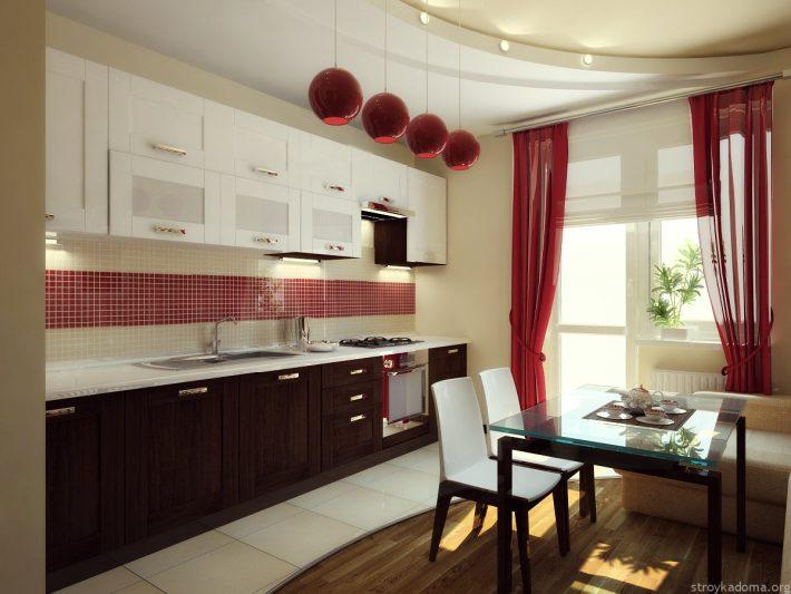 Сочетание с песочным в интерьере кухни