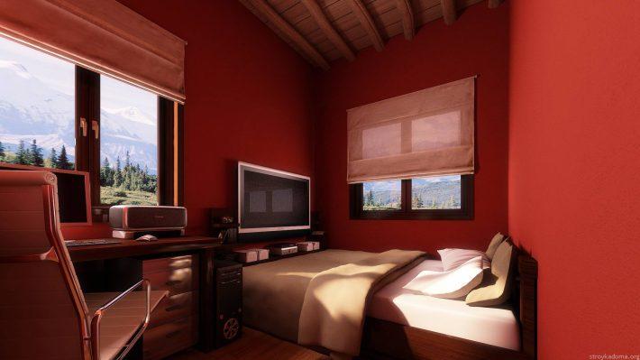 Полностью красная комната может быть опасной для здоровья