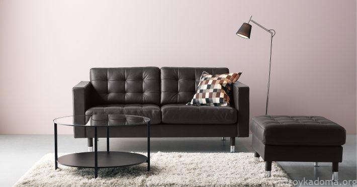 IKEA LANDSKRONA кожаный диван