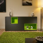 Awesome Sideboard Buffet Contemporary Lime Green and Grey Bedroom Design