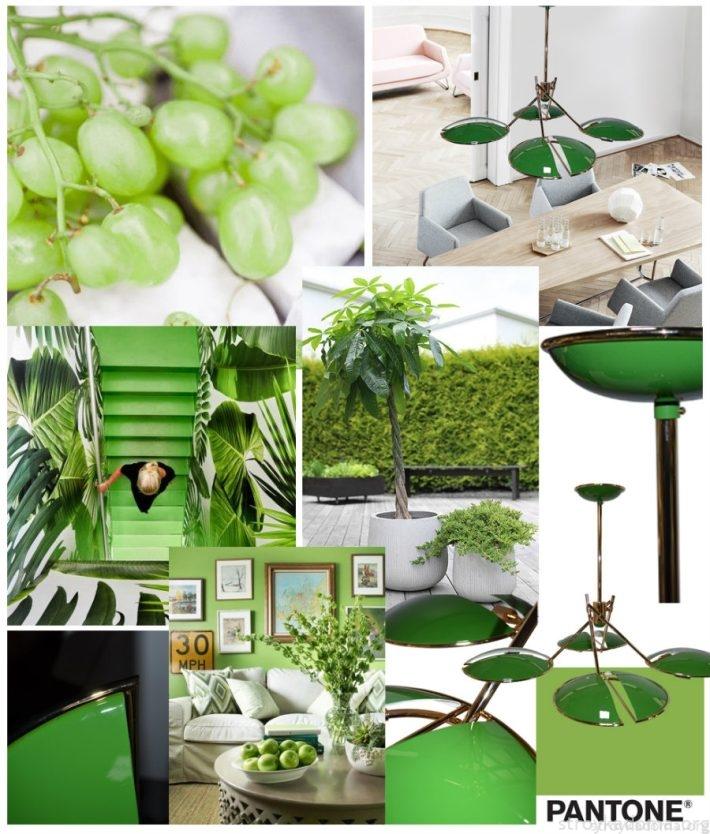 Модный зеленый цвет 2017 года в природе и в изделиях