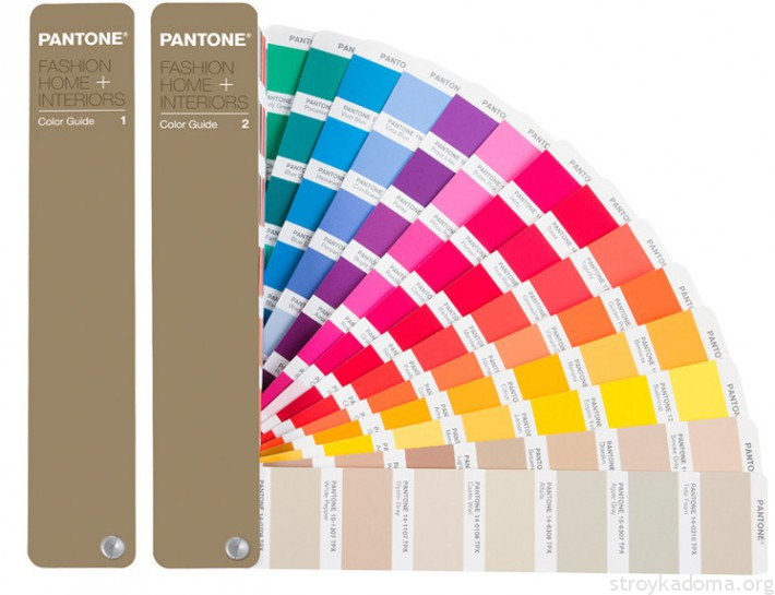 Цветовая система PANTONE для предметов интерьера и товаров для дома