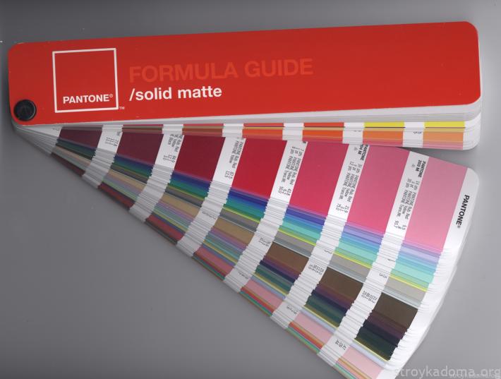 Цветовая система PANTONE FORMULA GUIDE в виде книжечки-веера